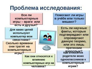 Проблема исследования: