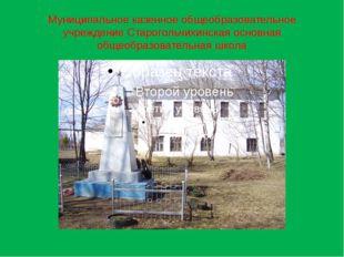 Муниципальное казенное общеобразовательное учреждение Старогольчихинская осно