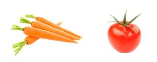 Морковка и помидор