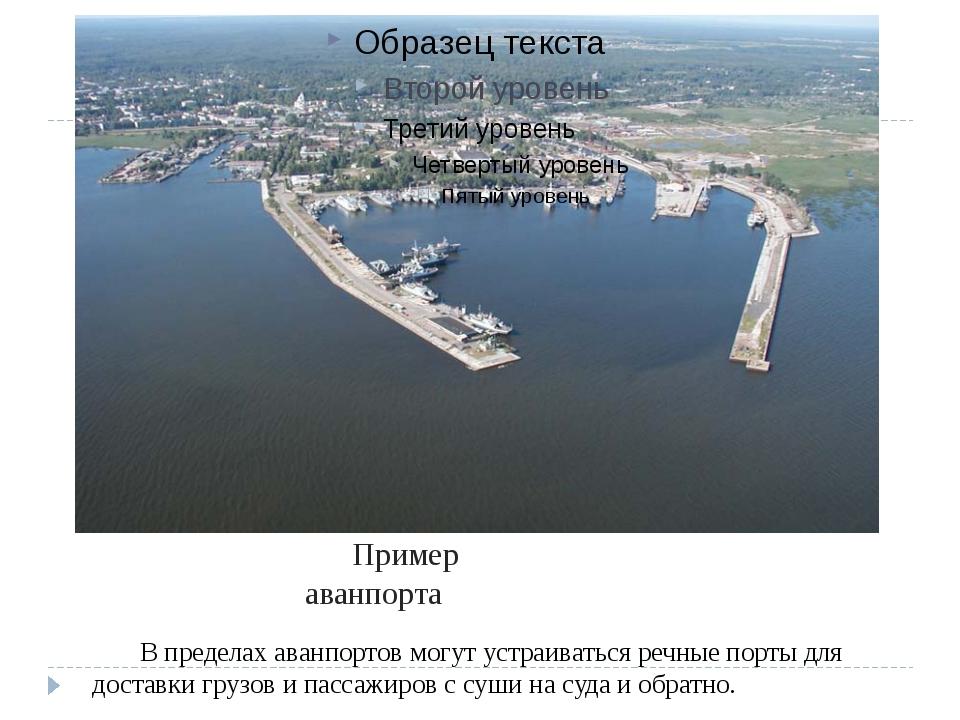 В пределах аванпортов могут устраиваться речные порты для доставки грузов и...