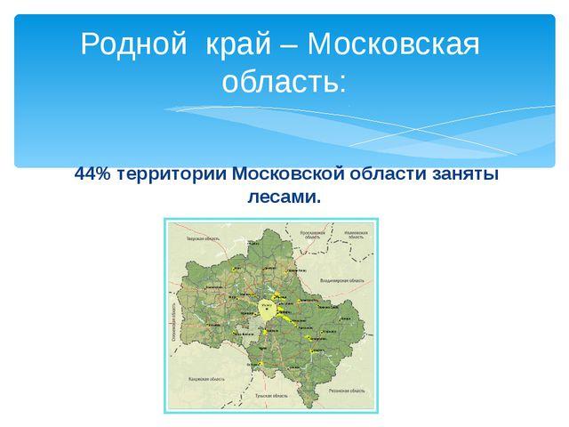 Родной край – Московская область: 44% территории Московской области заняты ле...
