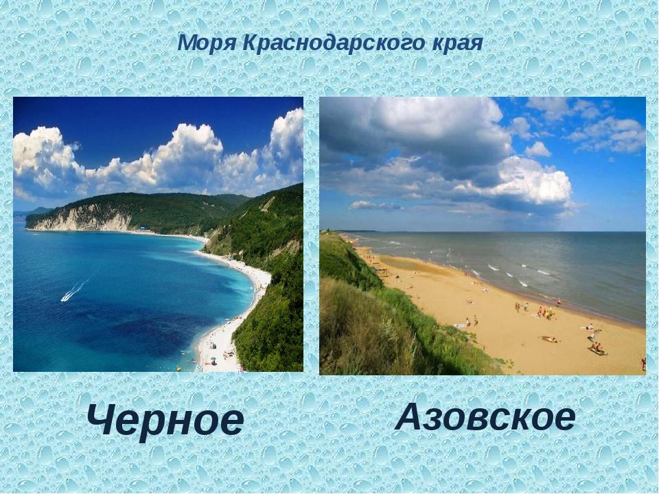 Моря Краснодарского края Черное Азовское