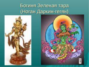 Богиня Зеленая тара (Ноган Даркин-гегян)