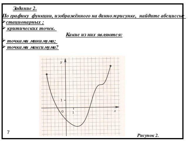 Рисунок 2. По графику функции, изображённого на данном рисунке, найдите абсци...