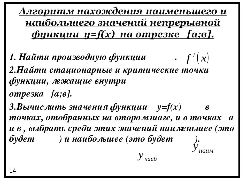 1. Найти производную функции . 2.Найти стационарные и критические точки функц...
