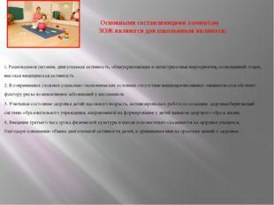 Основными составляющими элементам ЗОЖ являются для школьников являются: 1. Р