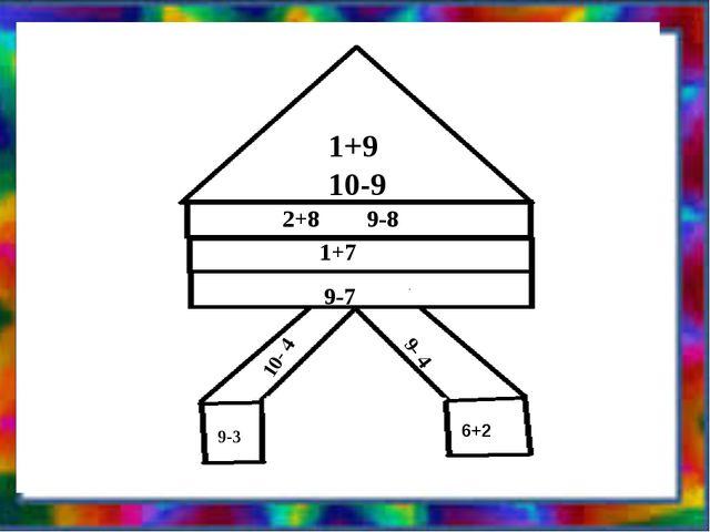 1+9 10-9 2+8 9-8 1+7 9-7 10- 4 9- 4 9-3 6+2
