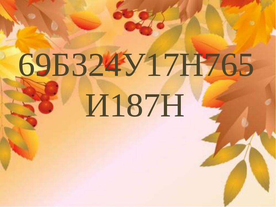 69Б324У17Н765 И187Н