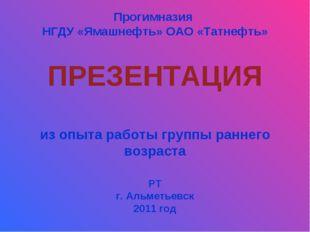 Прогимназия НГДУ «Ямашнефть» ОАО «Татнефть» ПРЕЗЕНТАЦИЯ из опыта работы групп