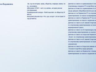 Храмова Диана Вадимовна Шк. тур по истории, праву, обществу,информ, химии,