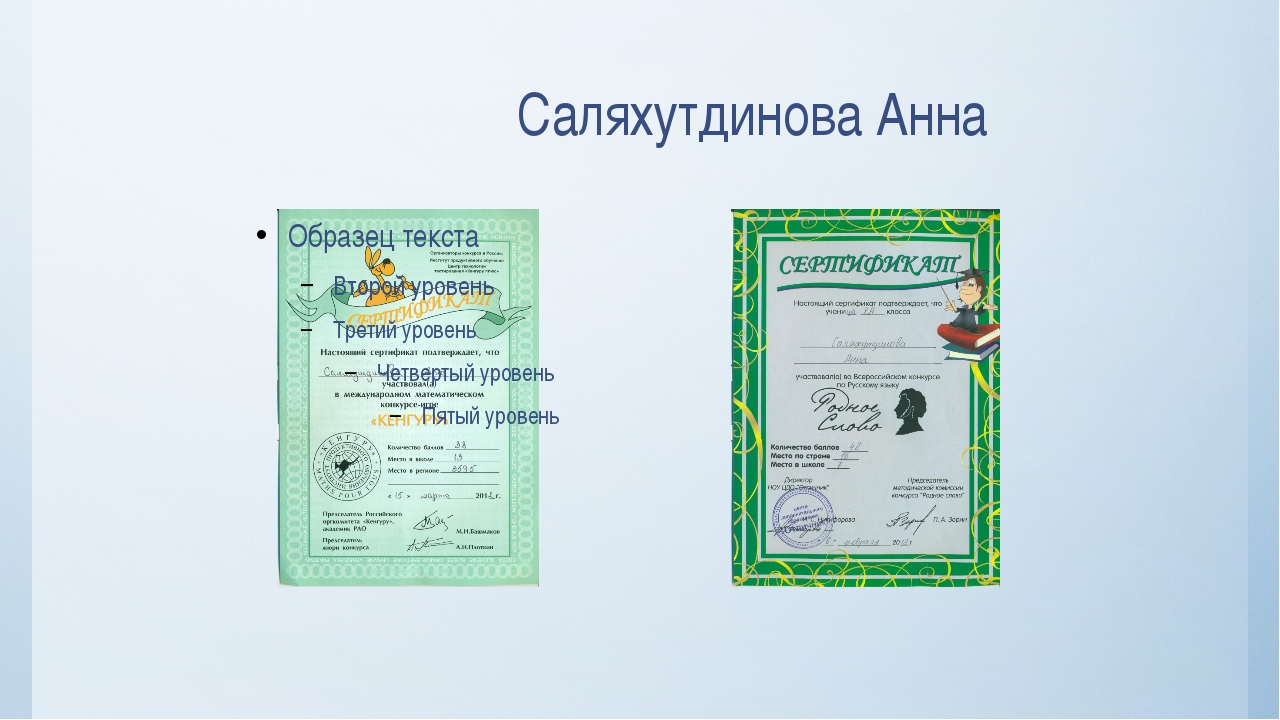Саляхутдинова Анна