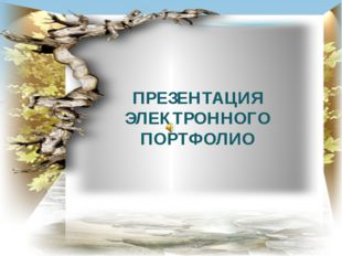 ПРЕЗЕНТАЦИЯ ЭЛЕКТРОННОГО ПОРТФОЛИО