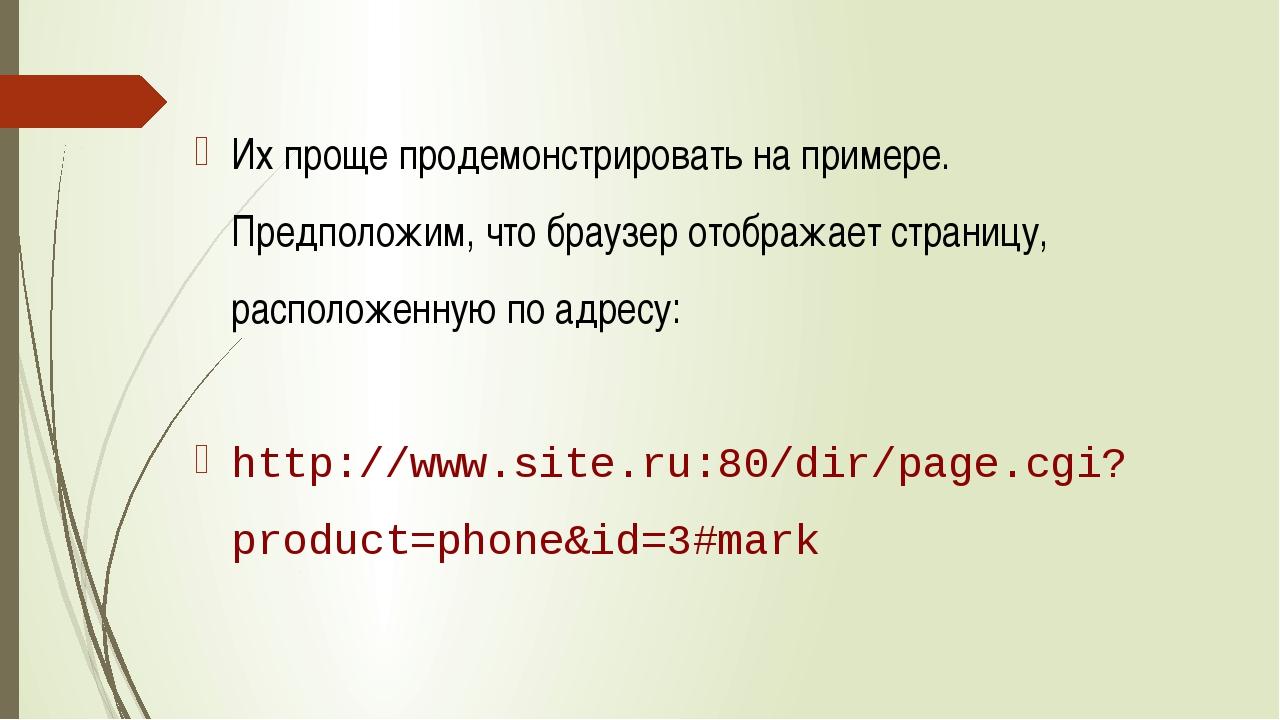 Их проще продемонстрировать на примере. Предположим, что браузер отображает...
