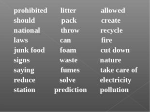 prohibited litter allowed should pack create national throw recycle laws can