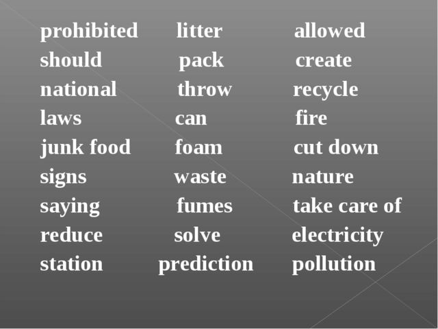 prohibited litter allowed should pack create national throw recycle laws can...
