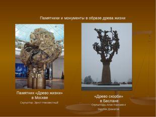 Памятники и монументы в образе древа жизни «Древо скорби» в Беслане Скульптор