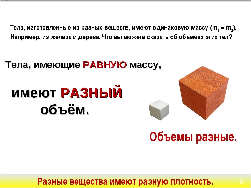 Тела, изготовленные из разных веществ, имеют одинаковую массу (m1 = m2). Напр...