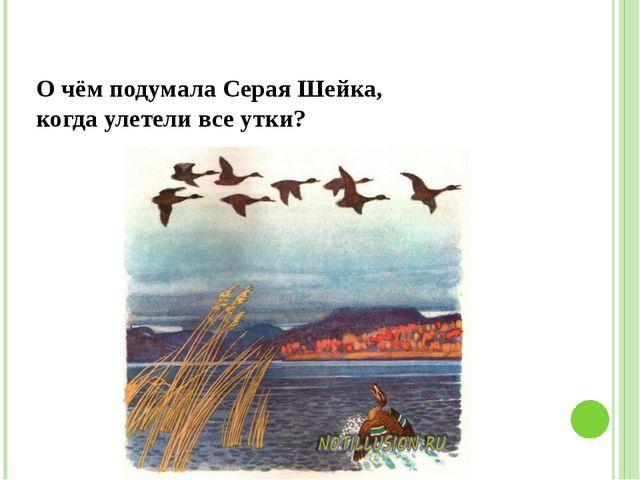 О чём подумала Серая Шейка, когда улетели все утки?