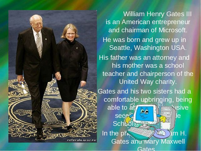 William Henry Gates III is an American entrepreneur and chairman of Microsof...