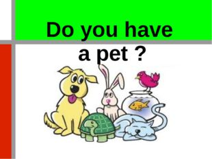 Do you have a pet ?