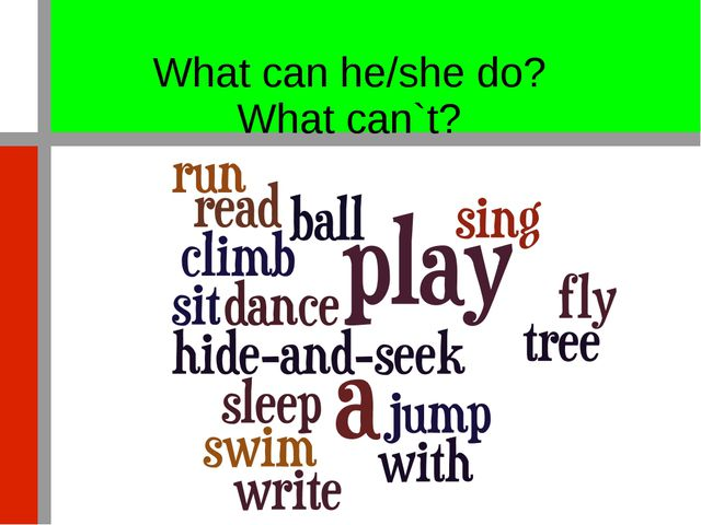 What can he/she do? What can`t?