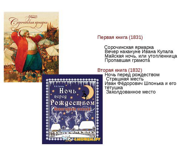 Первая книга (1831) Сорочинская ярмарка Вечер накануне Ивана Купала Майская...