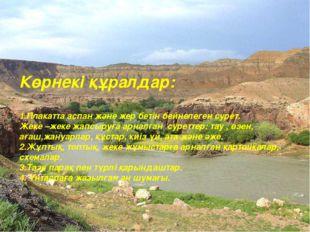Көрнекі құралдар: 1.Плакатта аспан және жер бетін бейнелеген сурет. Жеке –жек
