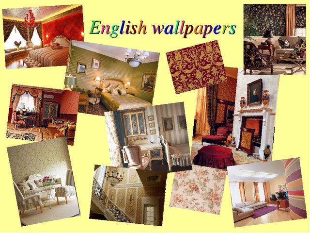 English wallpapers
