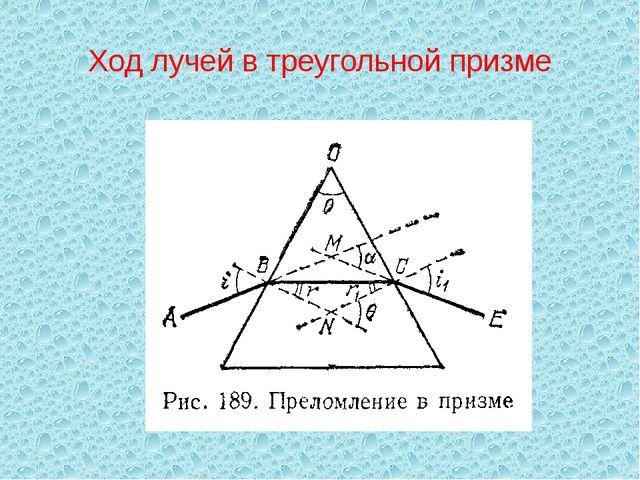 Ход лучей в треугольной призме