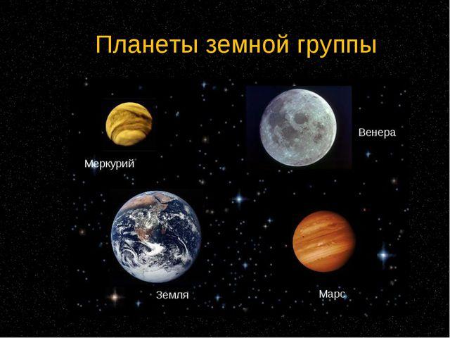 Планеты земной группы Находятся ближе к Солнцу Состоят из твердого вещества И...
