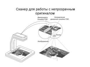 Сканер для работы с непрозрачным оригиналом
