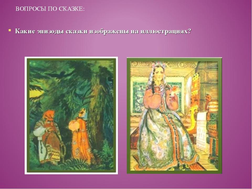 ВОПРОСЫ ПО СКАЗКЕ: Какие эпизоды сказки изображены на иллюстрациях?