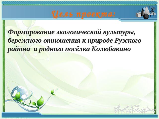Формирование экологической культуры, бережного отношения к природе Рузского р...