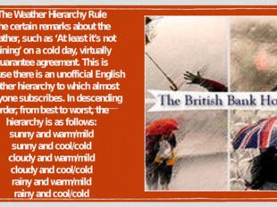 The Weather Hierarchy Rule The certain remarks about the weather, such as 'At