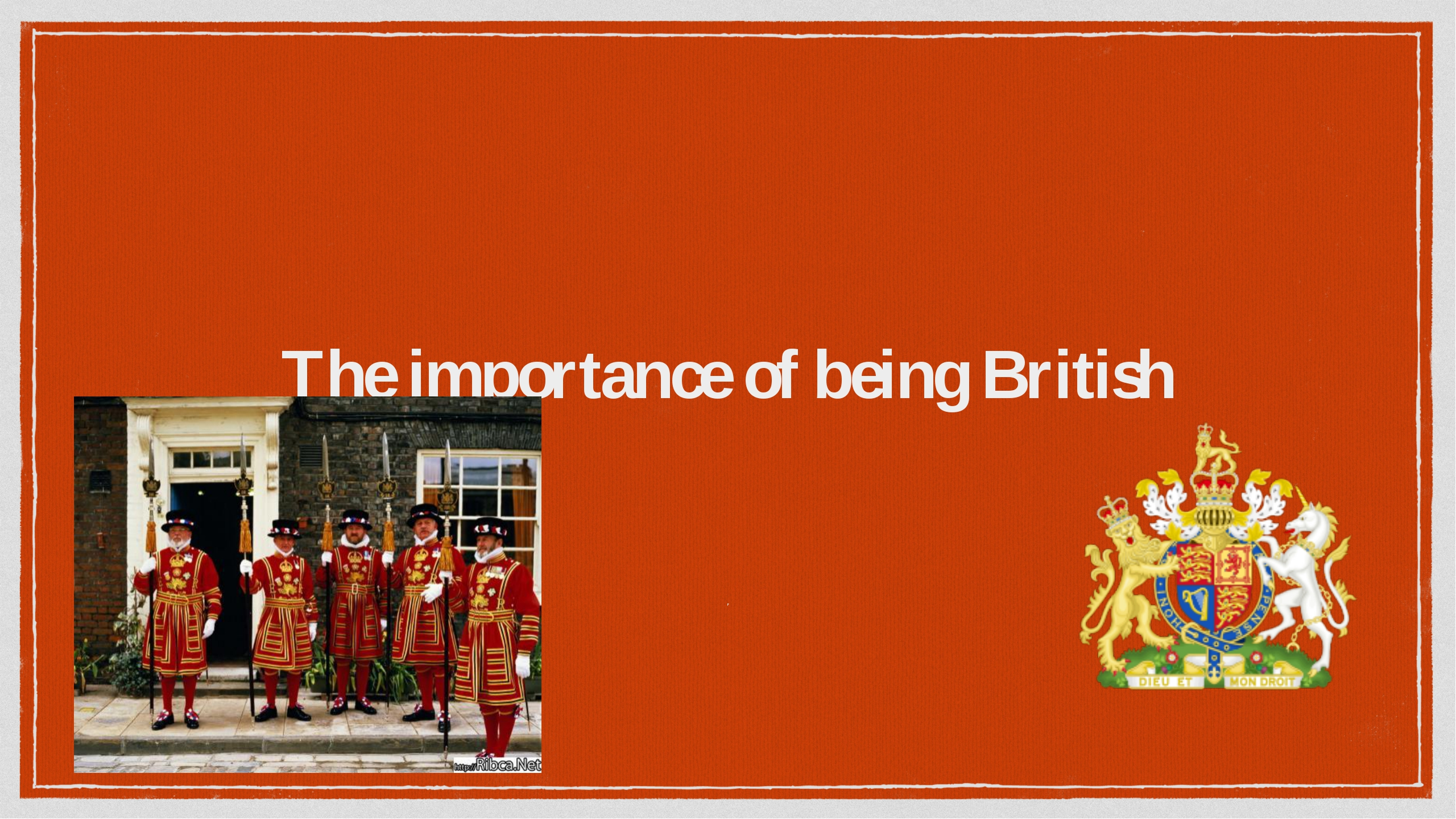 The importance of being British F