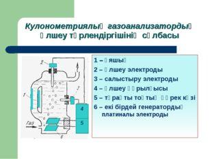 Кулонометриялық газоанализатордың өлшеу түрлендіргішінің сұлбасы 4 5