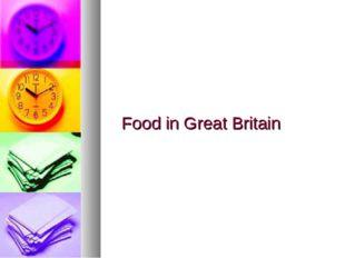 Food in Great Britain