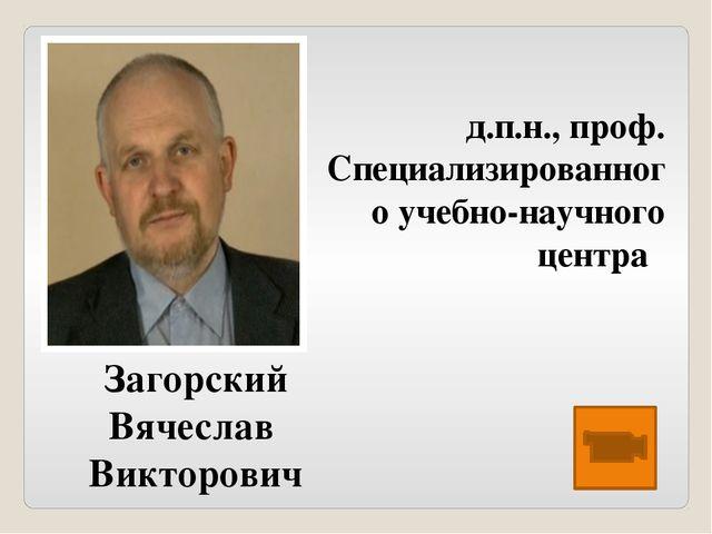 Загорский Вячеслав Викторович ...