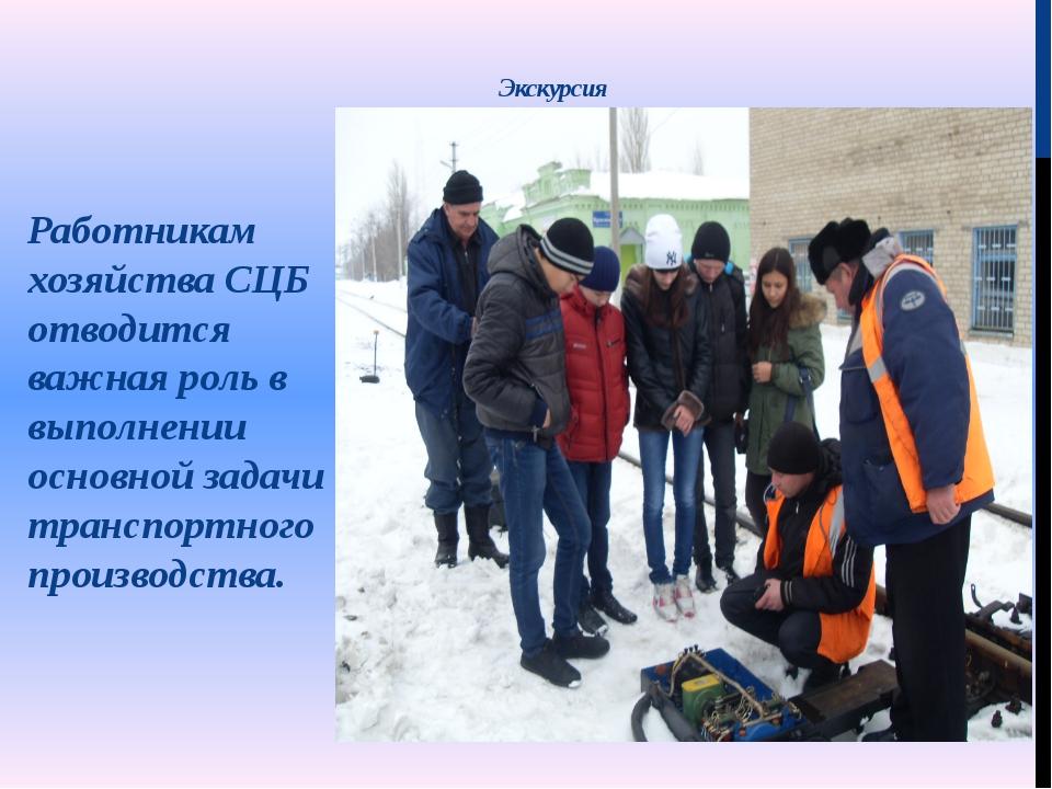 Экскурсия Работникам хозяйства СЦБ отводится важная роль в выполнении основно...