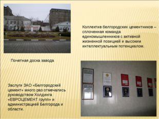 Заслуги ЗАО «Белгородский цемент» много раз отмечались руководством Холдинга