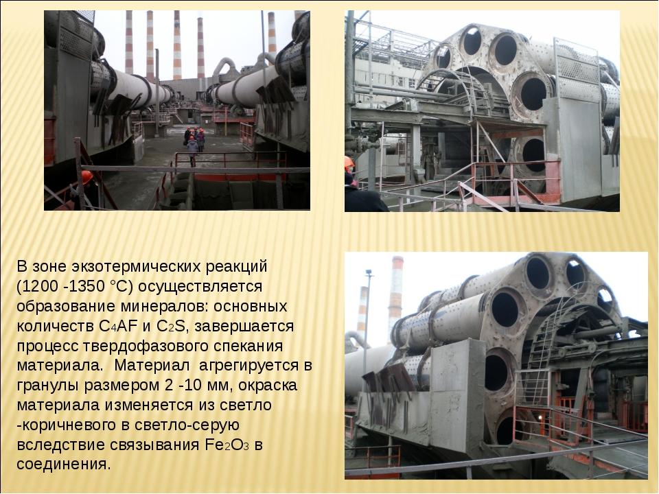 В зоне экзотермических реакций (1200 -1350 °С) осуществляется образование мин...