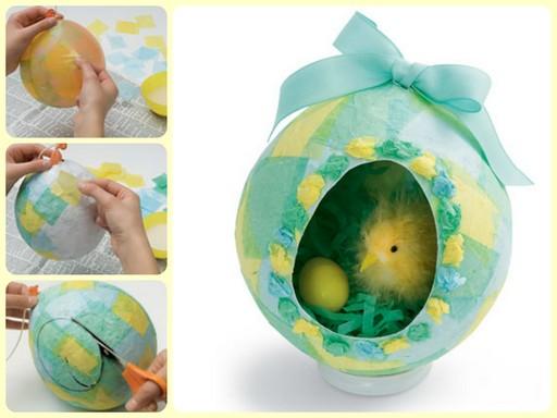 простое в исполнении пасхальное яйцо