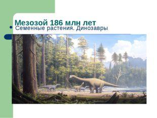 Мезозой 186 млн лет Семенные растения. Динозавры