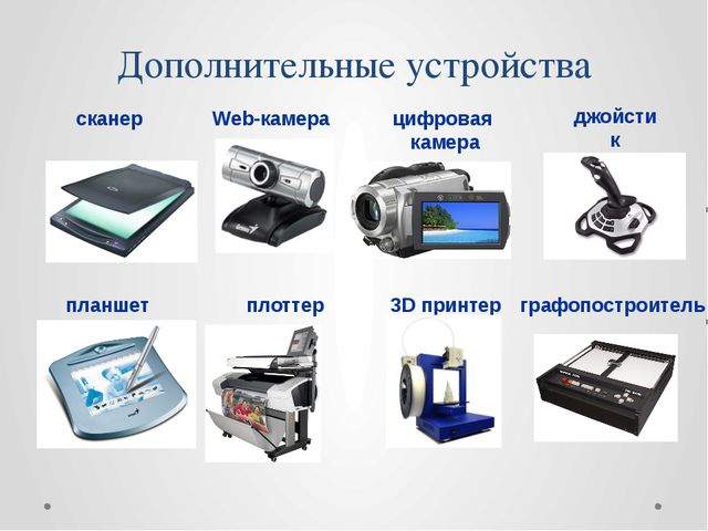 Дополнительные устройства 3D принтер планшет Web-камера сканер плоттер джойст...