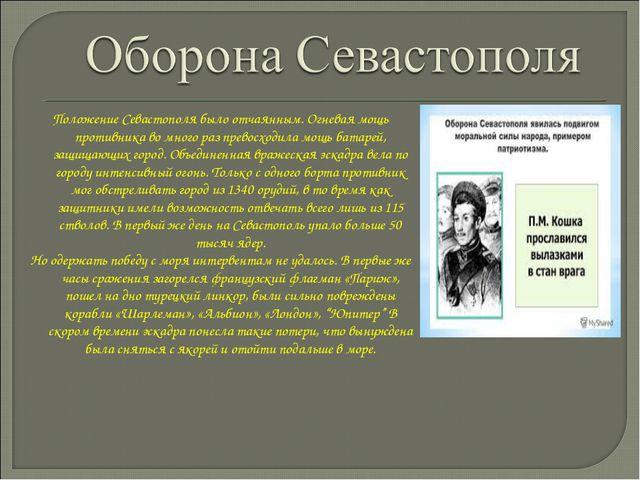 Положение Севастополя было отчаянным. Огневая мощь противника во много раз пр...