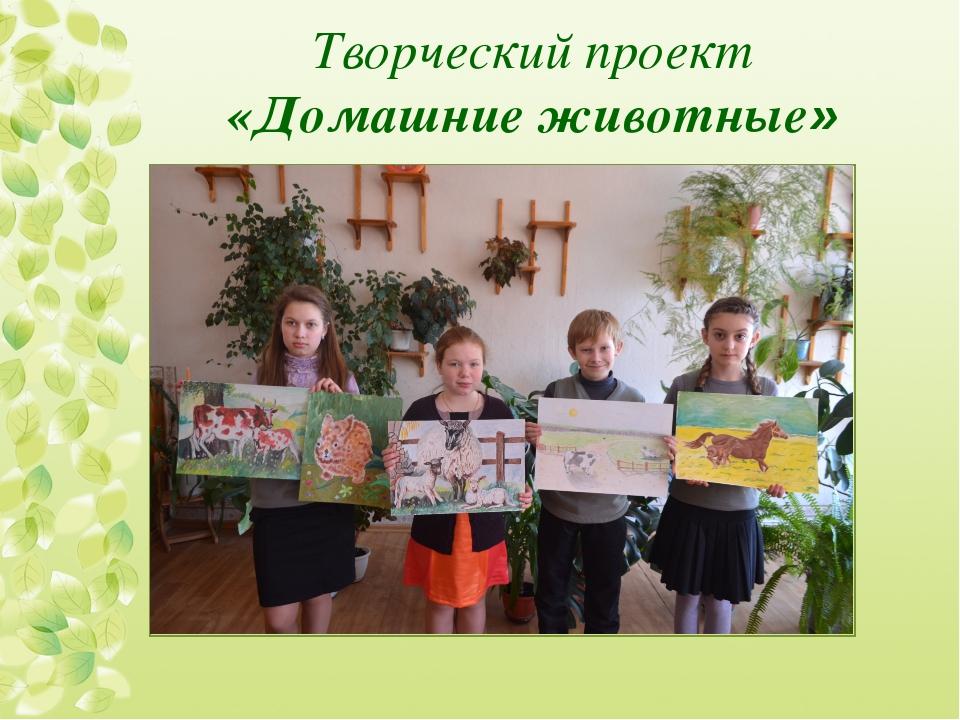 Творческий проект «Домашние животные»