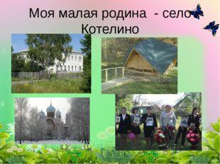 Моя малая родина - село Котелино