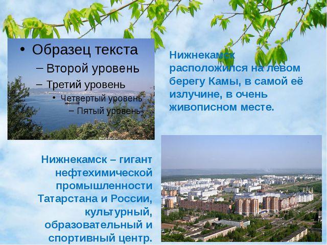 Нижнекамск расположился на левом берегу Камы, в самой её излучине, в очень жи...