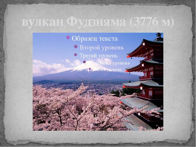 вулкан Фудзияма (3776 м)