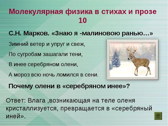 С.Н. Марков. «Знаю я -малиновою ранью…» Зимний ветер и упруг и свеж, По сугро...